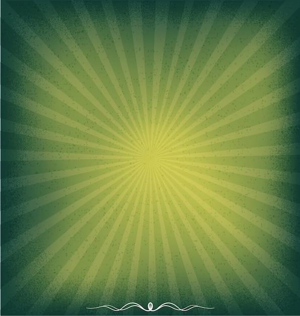 Sunburst grünen hintergrund Premium Vektoren