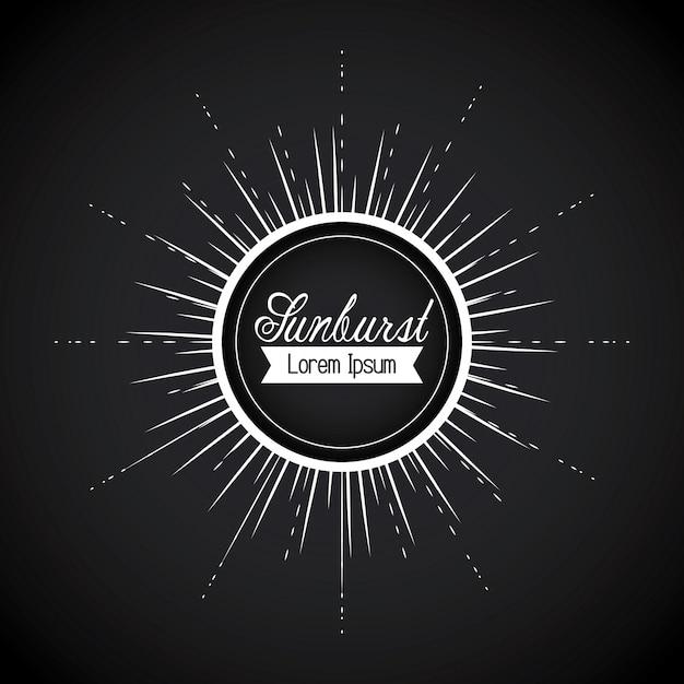 Sunburst-hintergrunddesign Premium Vektoren