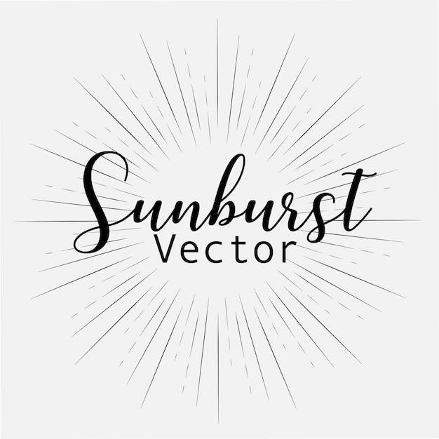 Sunburst-stil Premium Vektoren