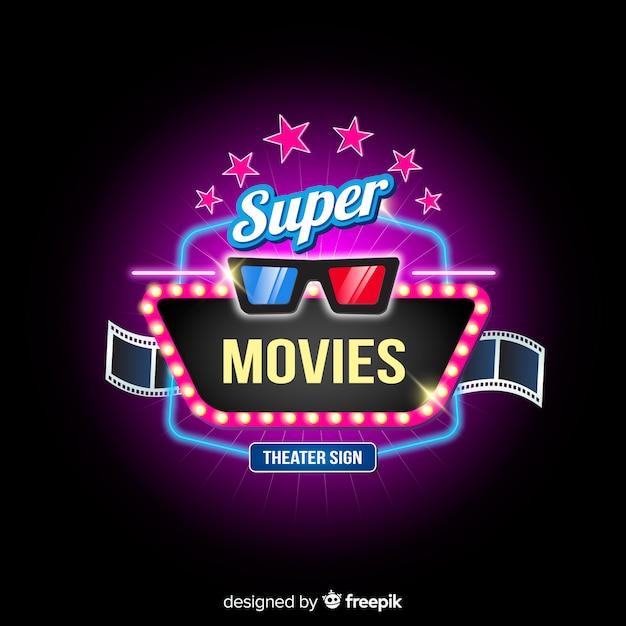 Super cinema hintergrund Kostenlosen Vektoren