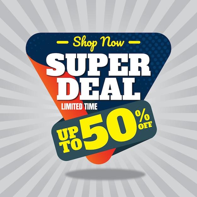 Super deal banner design Premium Vektoren