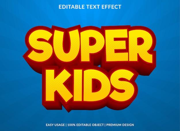 Super kinder texteffekt vorlage stil Premium Vektoren