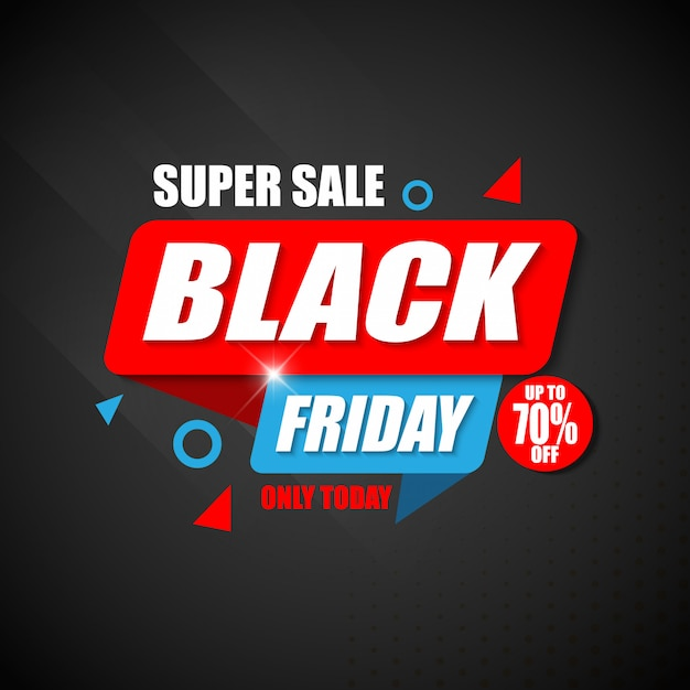 Super sale black friday banner design-vorlage Premium Vektoren
