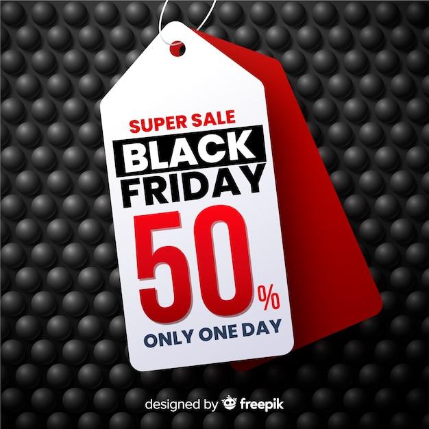 Super sale realistische black friday banner Kostenlosen Vektoren