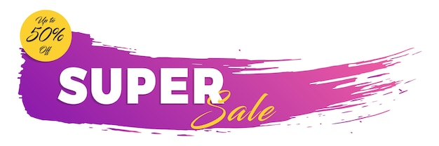 Super-verkauf-banner Premium Vektoren