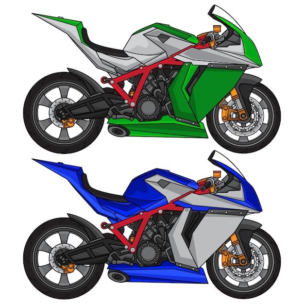 Superbike sportmotorrad Premium Vektoren