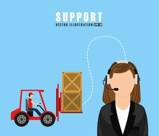 Support-service-design Kostenlosen Vektoren