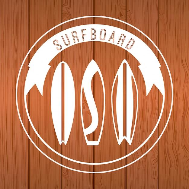 Surf design Premium Vektoren