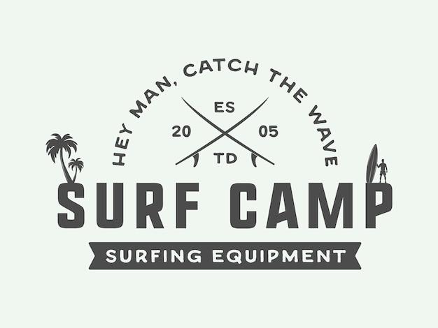 Surf-logo, emblem Premium Vektoren