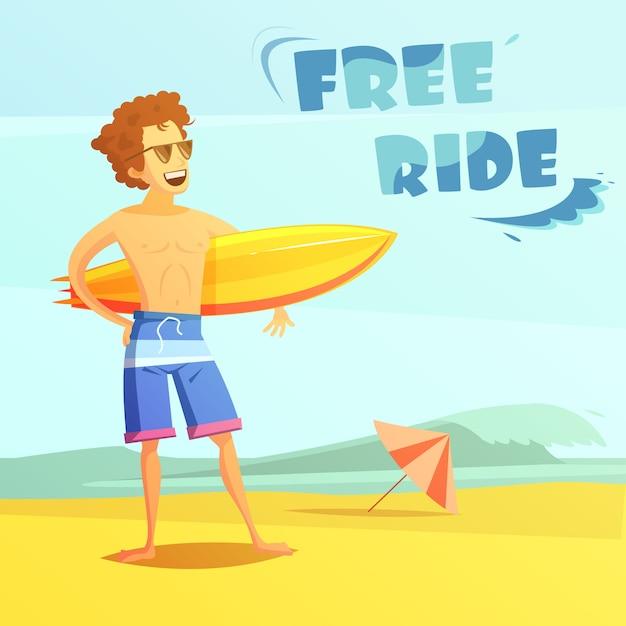 Surfer Kostenlosen Vektoren