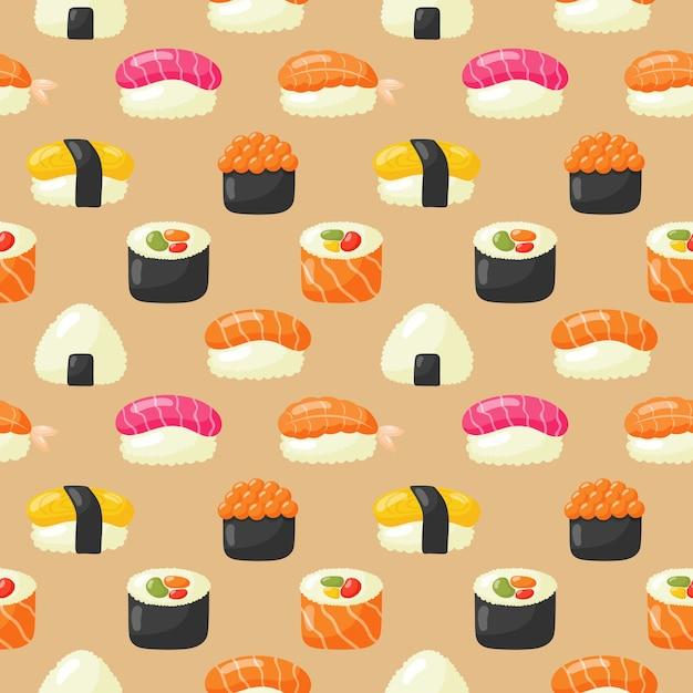 Sushi nahtlose muster Premium Vektoren