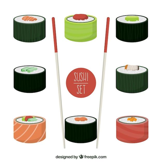Sushi-set Kostenlosen Vektoren