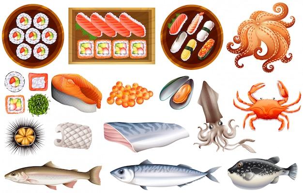 Sushi Premium Vektoren
