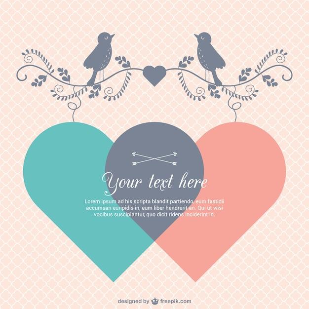 Süße Valentinstag Karte Vorlage Kostenlose Vektoren