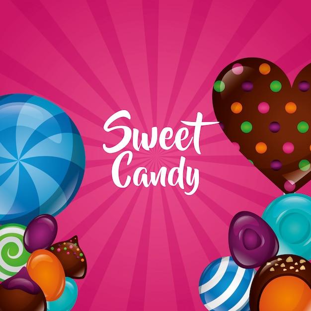 Sweet candy hintergrund Kostenlosen Vektoren