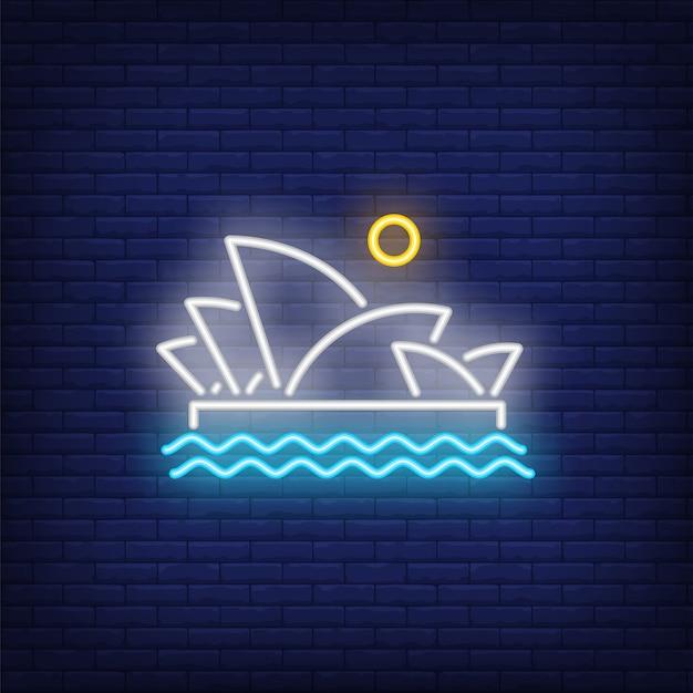 Sydney opera leuchtreklame Kostenlosen Vektoren