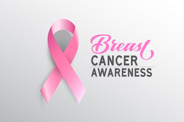 Symbol brustkrebs-bewusstseinsmonat im oktober. Premium Vektoren