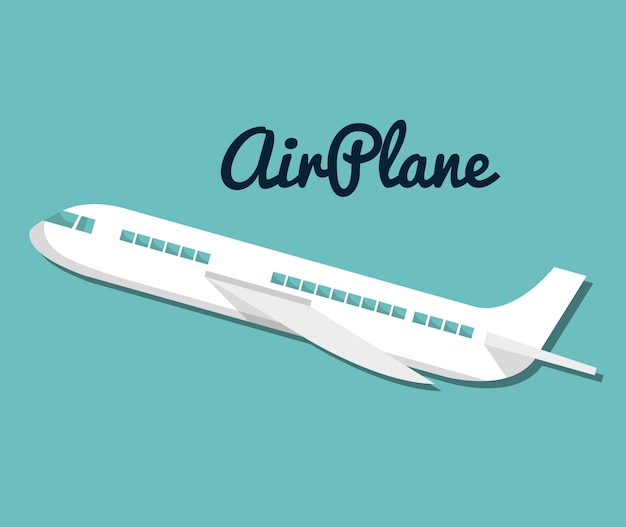 Symbol flugzeug reisen urlaub design Premium Vektoren