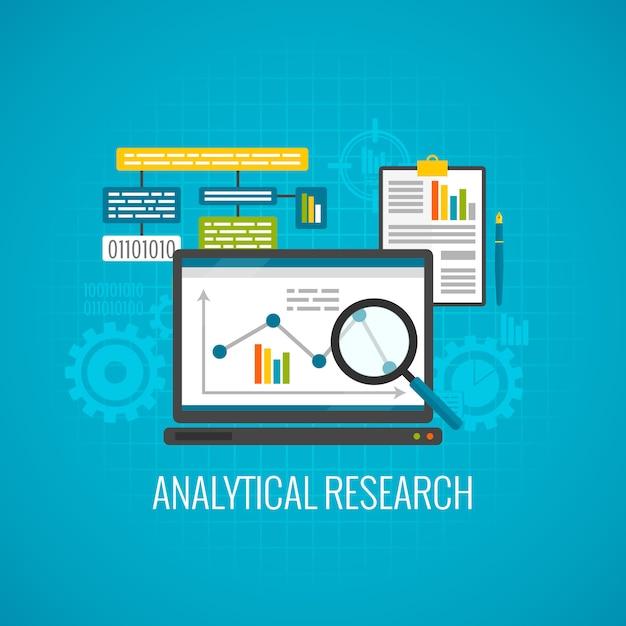 Symbol für daten und analytische forschung Kostenlosen Vektoren