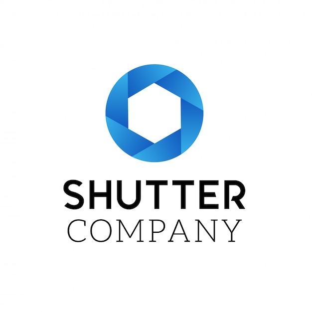 Symbol für kameraauslöser. logo design vektor vorlage. abstraktes strudelkreissymbol für logo. Premium Vektoren