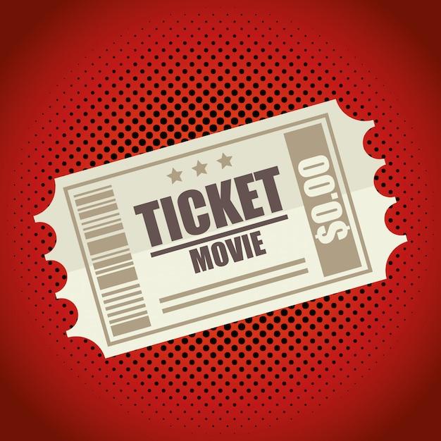 Symbol ticket film design Premium Vektoren