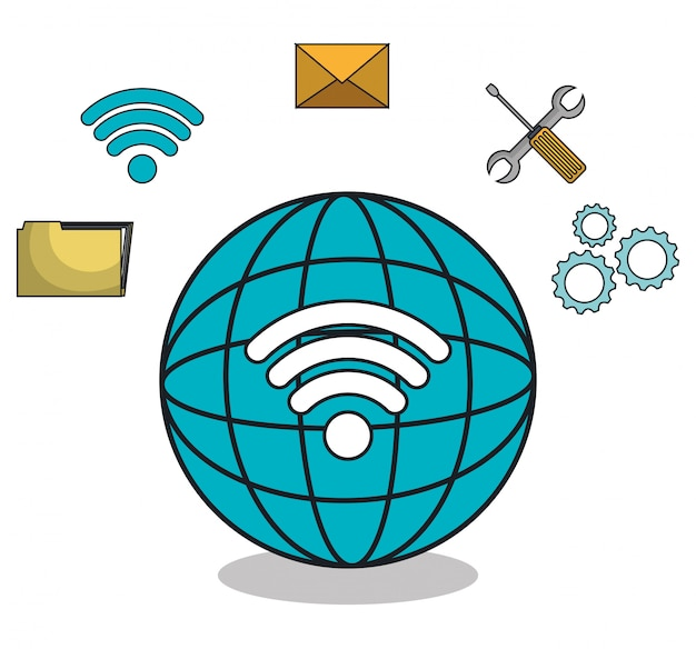 Symbole für den globus-browser-browser Premium Vektoren
