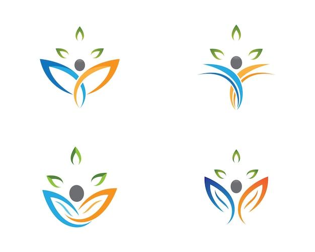 Symbolillustrationsdesign der menschlichen gesundheit Premium Vektoren