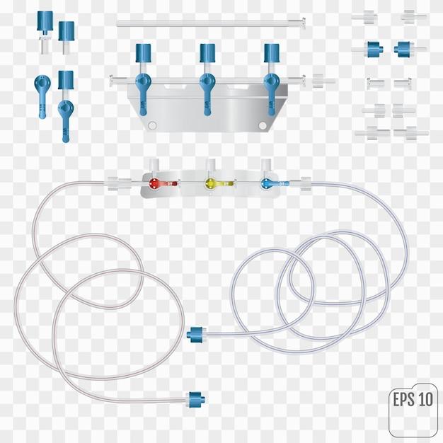 System für intravenöse infusionen Premium Vektoren