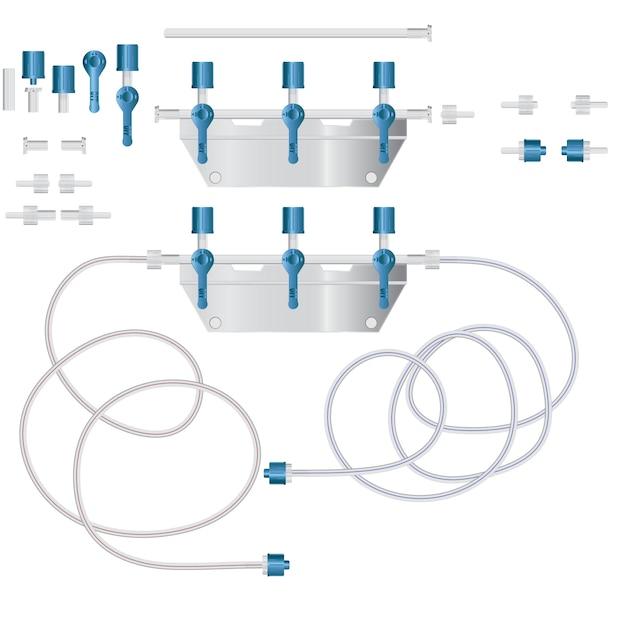 System zur intravenösen infusion mit einem reduktionsmittel. Premium Vektoren