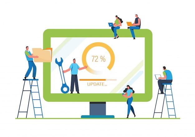 Systemaktualisierung Premium Vektoren