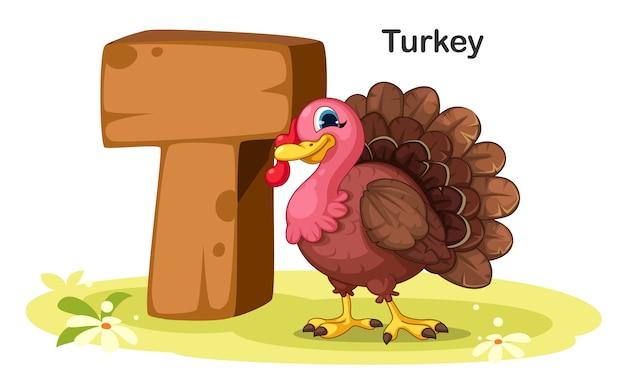 T für die türkei Premium Vektoren