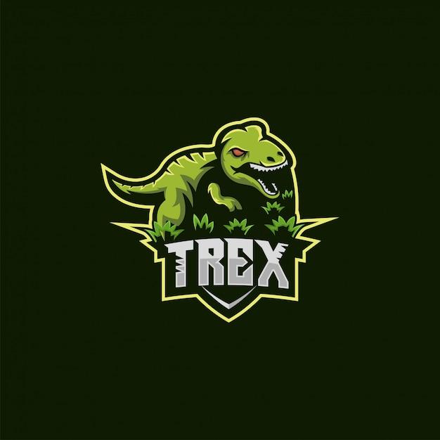 T rex logo abbildung Premium Vektoren