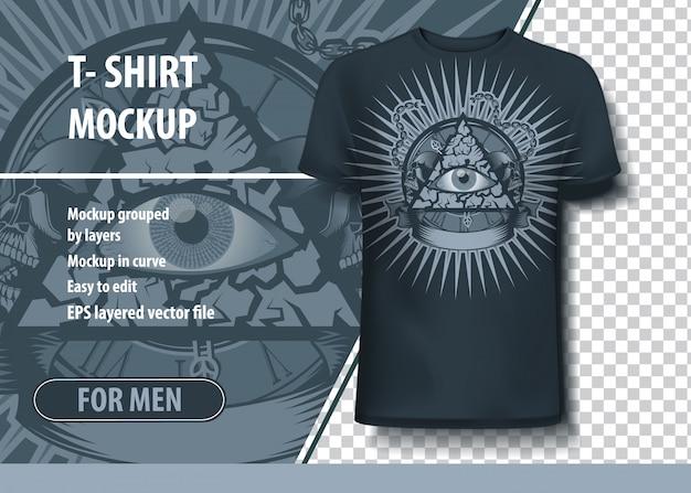 T-shirt-modell Premium Vektoren