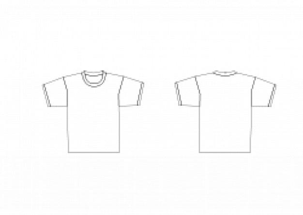 T-Shirt-Vorlage | Download der kostenlosen Vektor