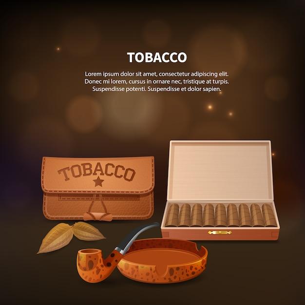 Tabak realistische komposition Kostenlosen Vektoren