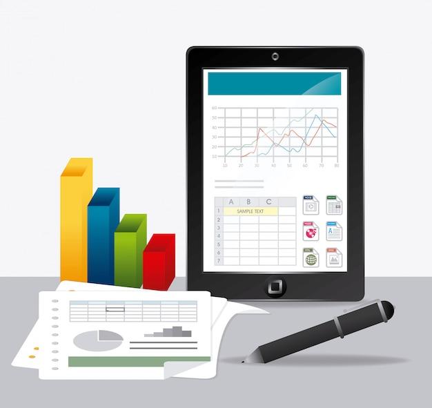 Tabellenkalkulation. Premium Vektoren