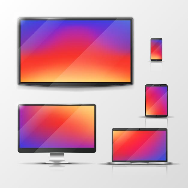 Tablet und laptop Premium Vektoren
