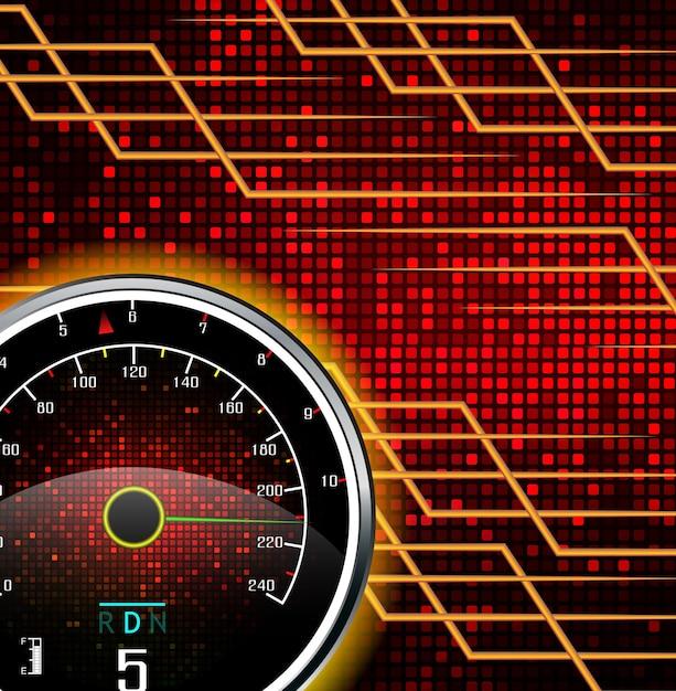 Tachometer hintergrund Premium Vektoren