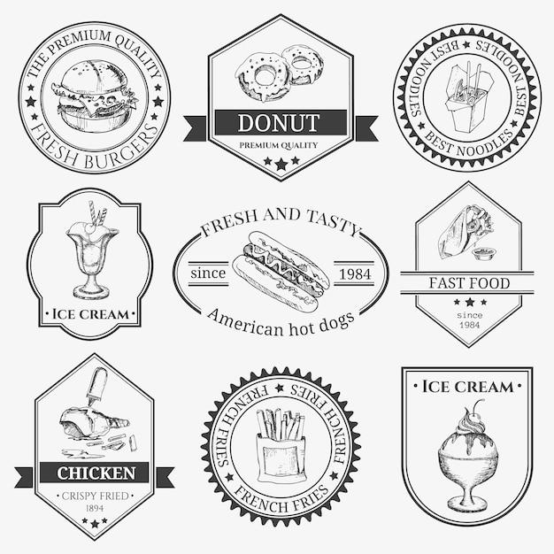 Tacos-logo und logo-element für fast-food-restaurant, café. Premium Vektoren
