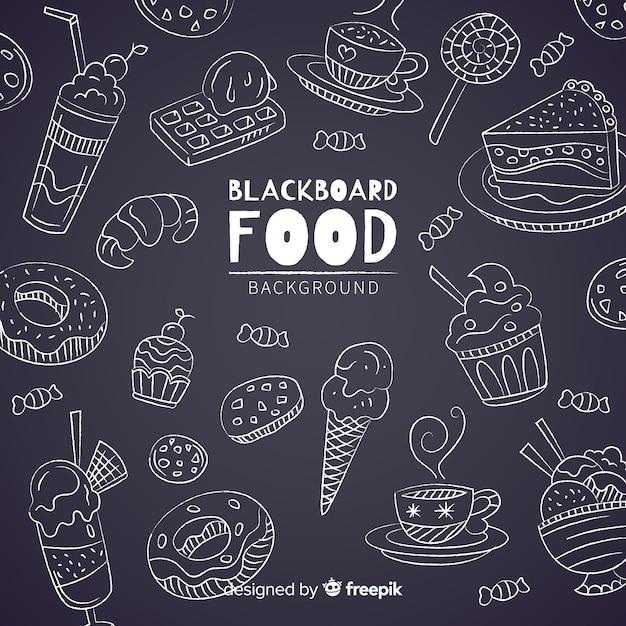 Tafel essen hintergrund Kostenlosen Vektoren