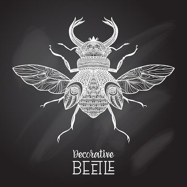 Tafel-käfer dekorativ Kostenlosen Vektoren