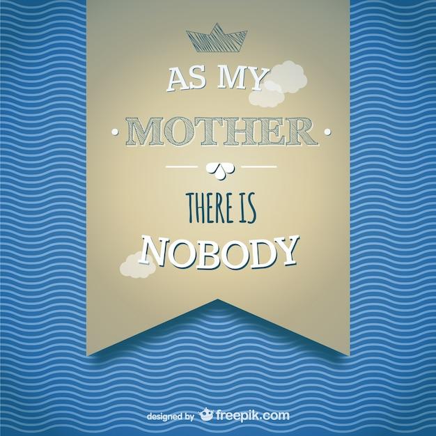 Tag Banner Karte Vorlage Mutter | Download der kostenlosen Vektor