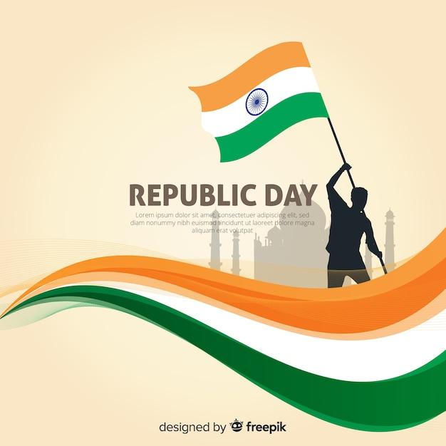 Tag der indischen republik tag Premium Vektoren