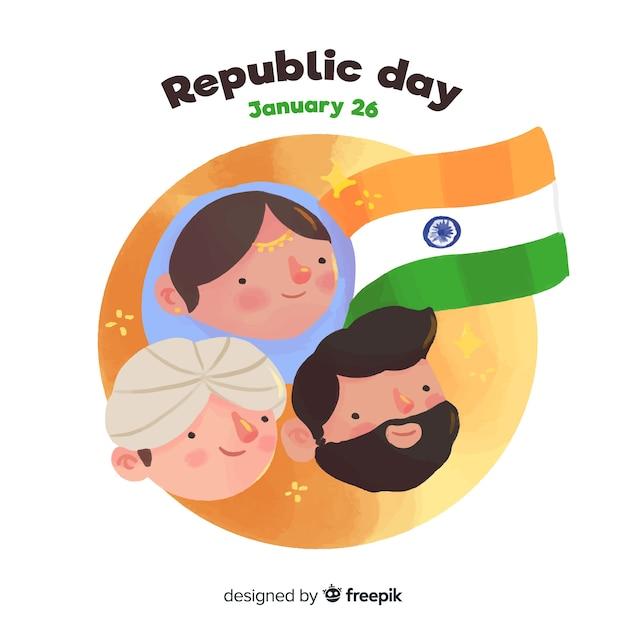Tag der indischen republik Kostenlosen Vektoren
