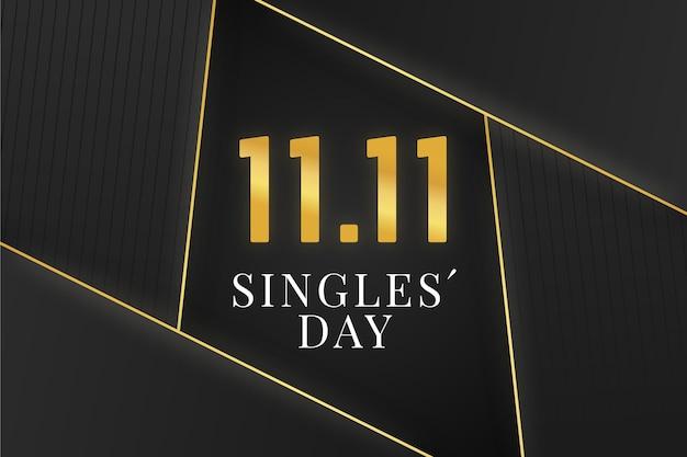 Tag der schwarzen und goldenen singles Kostenlosen Vektoren