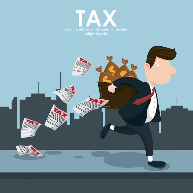Tag der steuerlichen vergütung Premium Vektoren