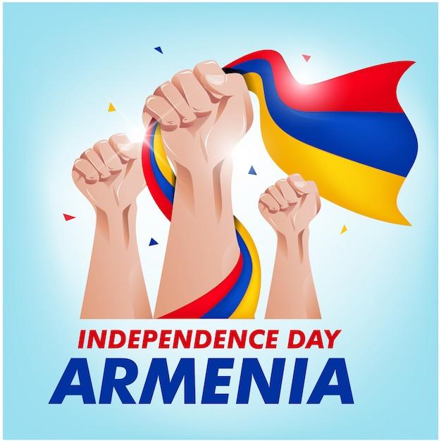 Tag der unabhängigkeit armeniens Premium Vektoren