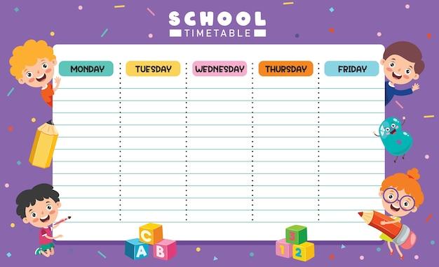 Tages- und wochenplaner für kinder Premium Vektoren
