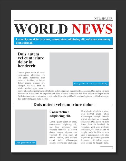 Tageszeitung journal, wirtschaftsförderung nachrichten Premium Vektoren