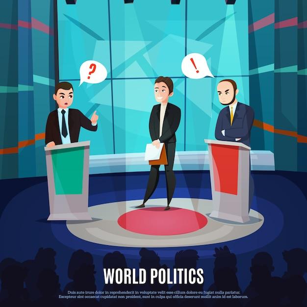 Talkshow-illustration Kostenlosen Vektoren